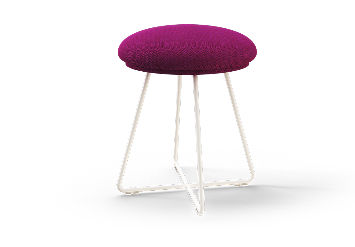 Low Stool w/Upholstered Seat